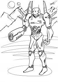 Робот солдат Раскраски для детей мальчиков