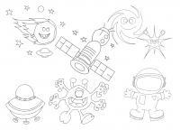 Космос и его обитатели Раскрашивать раскраски для мальчиков