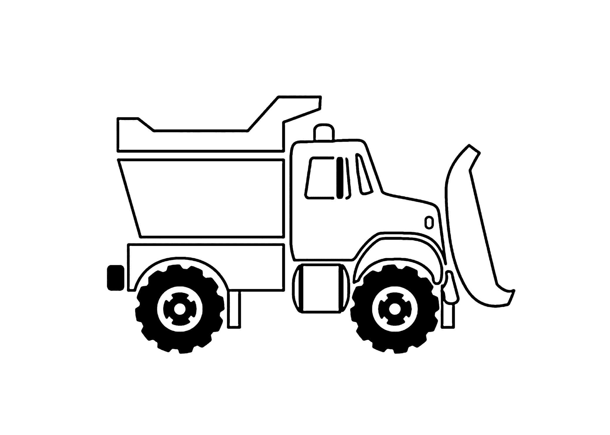 Грузовик-бульдозер Раскраски для мальчиков