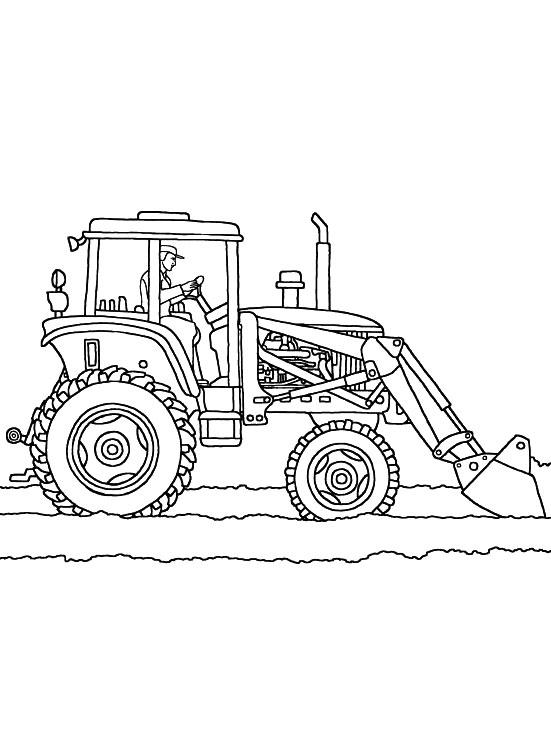 Трактор на пашне Раскраски для мальчиков