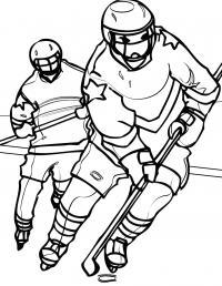 Игра хоккей Раскрашивать раскраски для мальчиков
