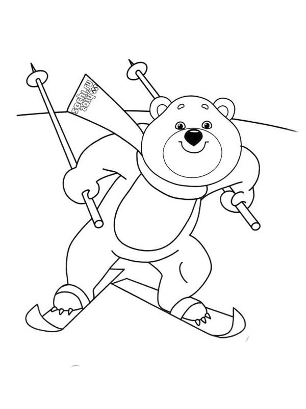 Зимние олимпийские виды спорта картинки для детей раскраски