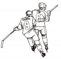 Два хоккеиста Раскрашивать раскраски для мальчиков