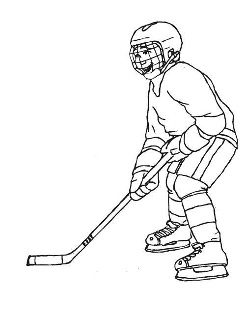 Счастливый хоккеист Раскрашивать раскраски для мальчиков