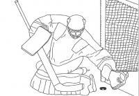 Вратарь хоккеист Раскрашивать раскраски для мальчиков