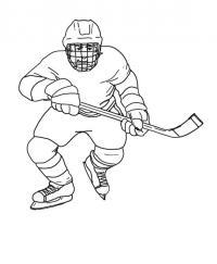 Хоккеист играет Скачать раскраски для мальчиков
