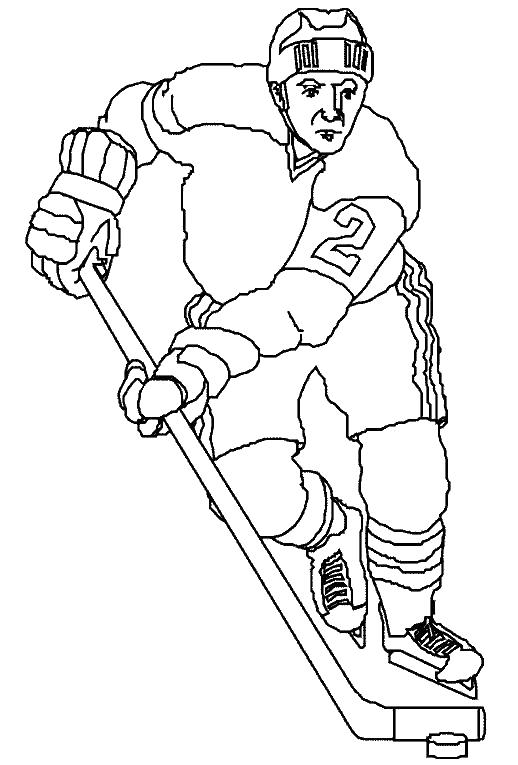 Хоккеист, спорт, раскраски Раскрашивать раскраски для мальчиков