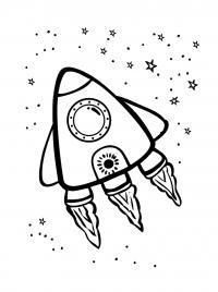 Маленькая ракета летит Раскраски для детей мальчиков