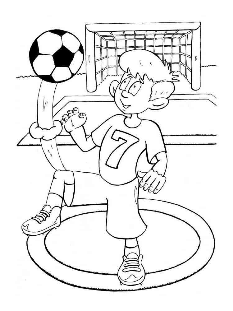 Футболист мальчик Распечатать раскраски для мальчиков