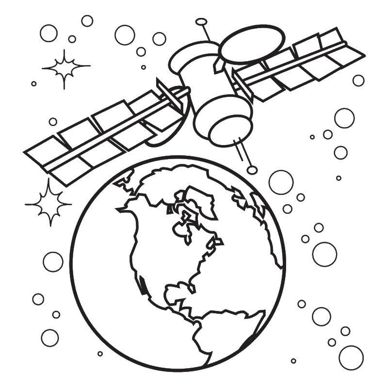 Спутник земли Раскрашивать раскраски для мальчиков