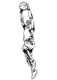 Баскетбольный прыжок Раскрашивать раскраски для мальчиков