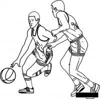 Баскетболисты играют Раскраски для мальчиков