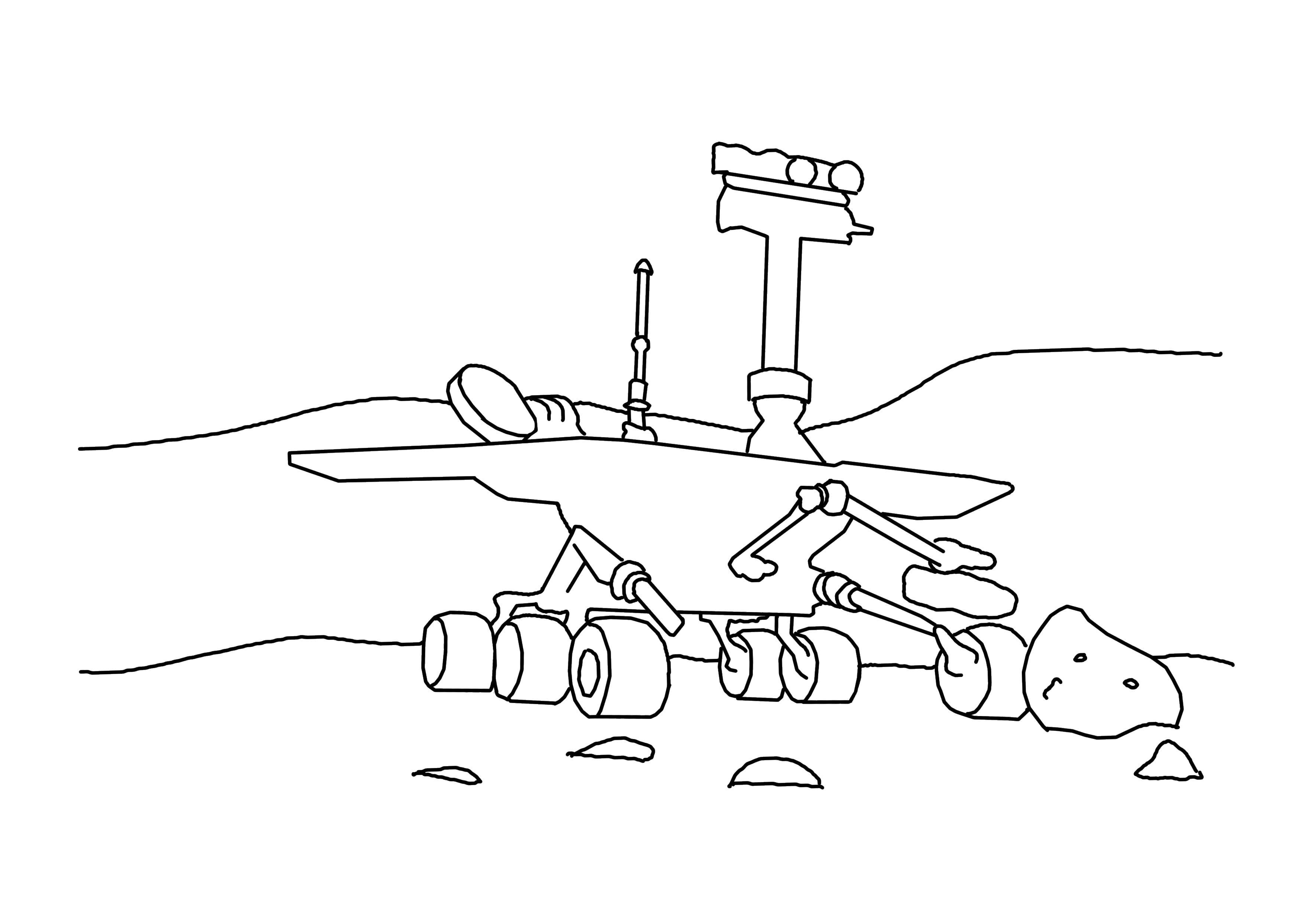 Корабль исследует планету Раскрашивать раскраски для мальчиков