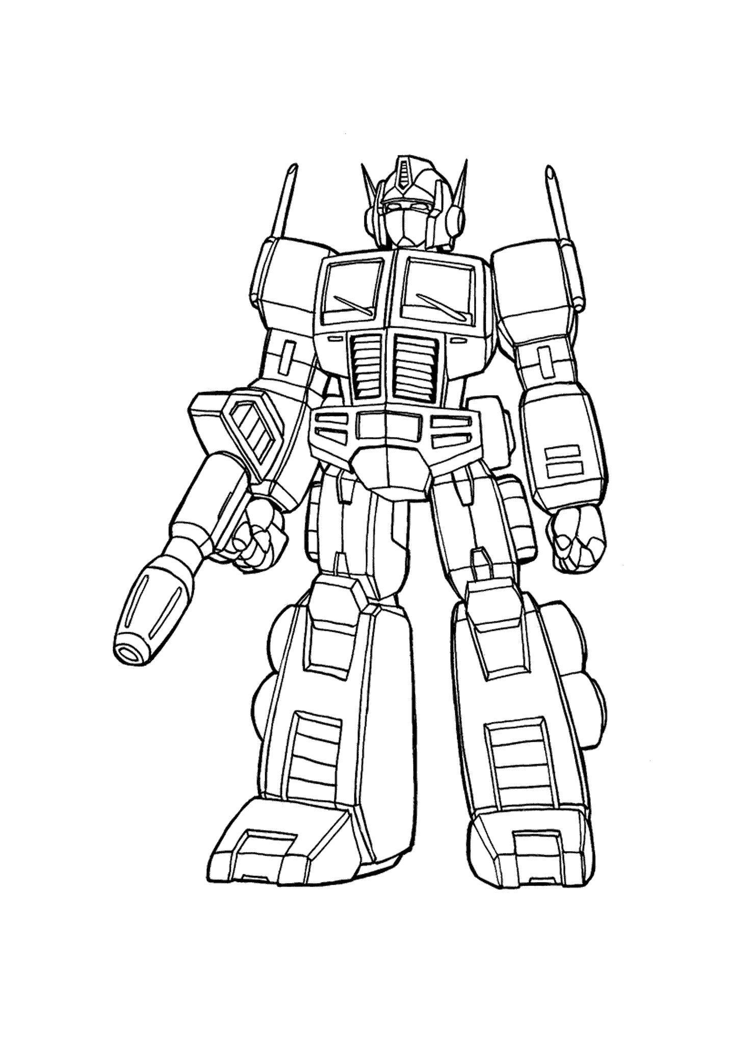 Трансформеры с пистолетом трансформер робот раскраски ...