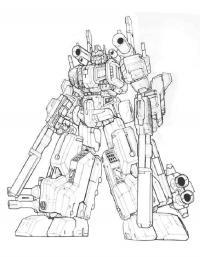 Трансформер с пистолетами Раскрашивать раскраски для мальчиков
