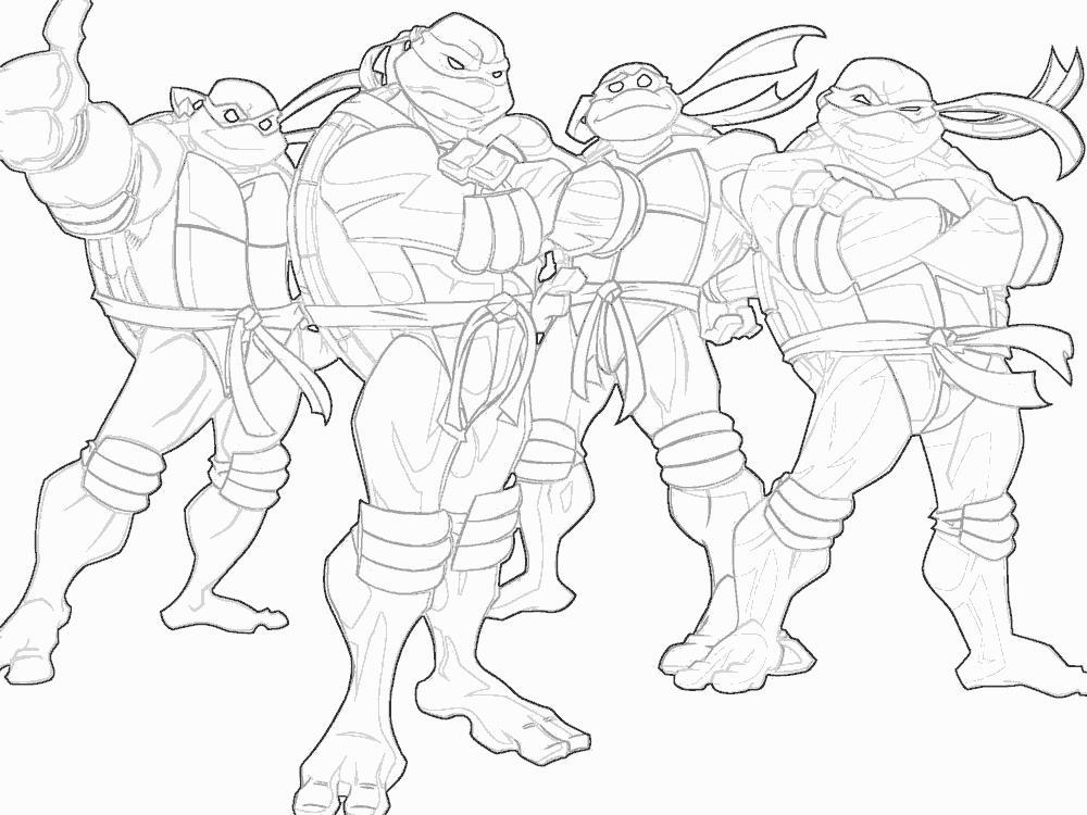 Черепашки ниндзя раскраска для мальчиков Раскрашивать раскраски для мальчиков