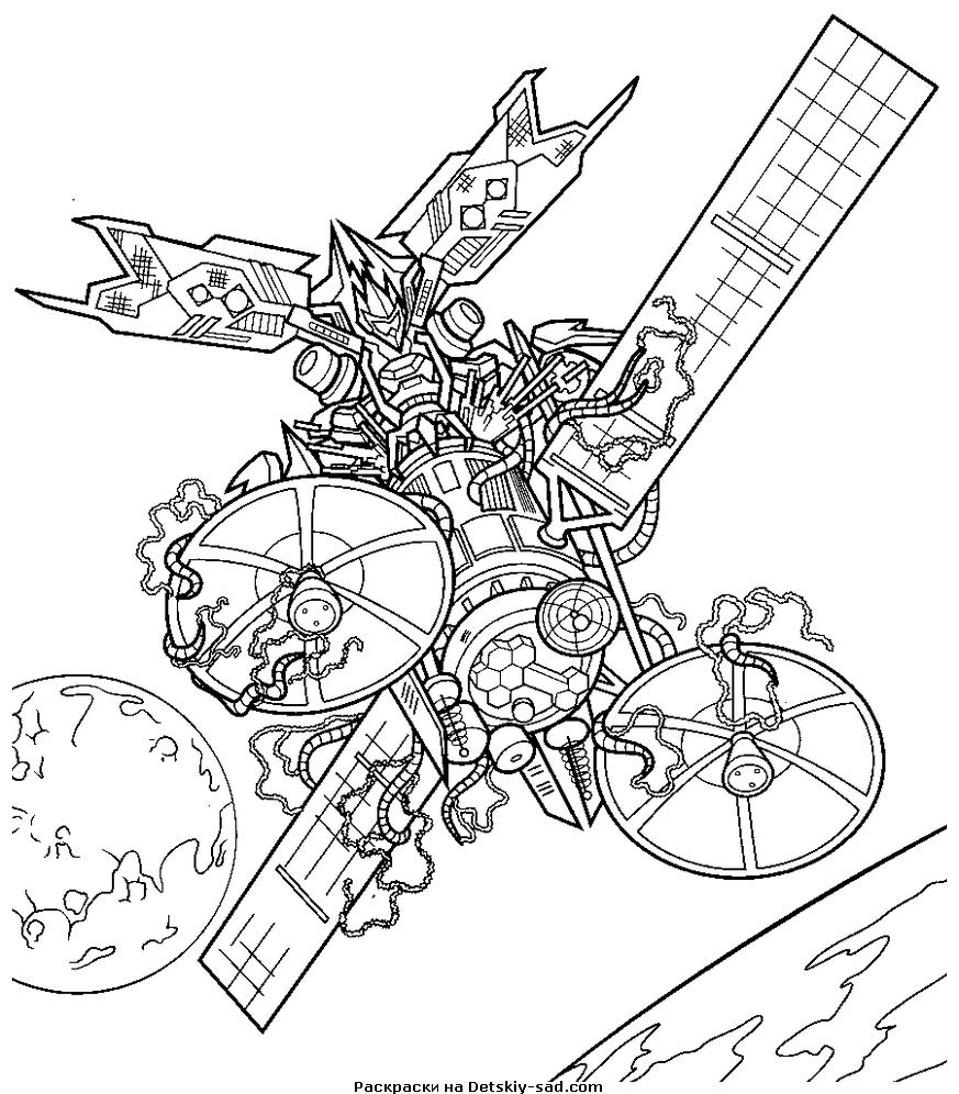 Трансформер в космосе Раскрашивать раскраски для мальчиков