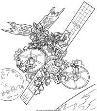 Трансформер в космосе Раскраски для мальчиков