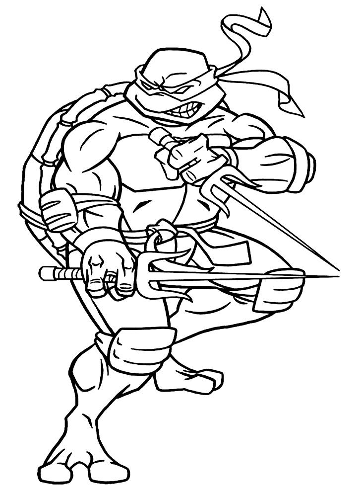Картинка раскраска для мальчиков ниндзя