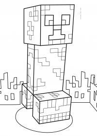 Майнкрафт город Скачать раскраски для мальчиков