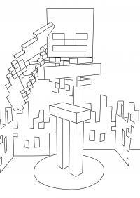 Майнкрафт роботы Раскрашивать раскраски для мальчиков