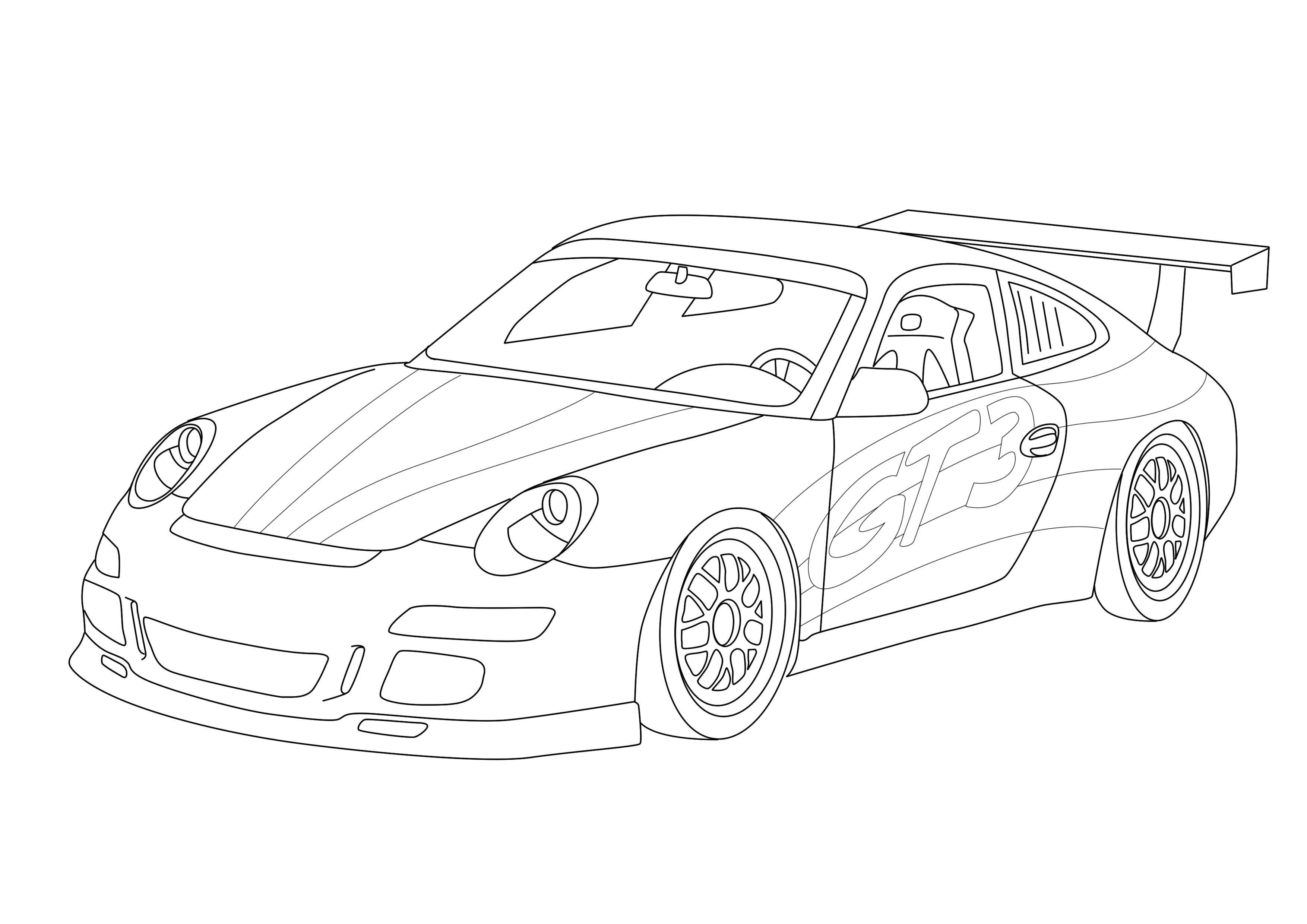 Porshe 911 sport Скачать раскраски для мальчиков