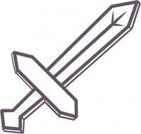 Майнкрафт меч Скачать раскраски для мальчиков