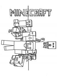 Майнкрафт разные герои Скачать раскраски для мальчиков