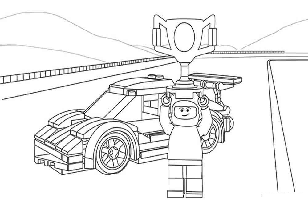 Майнкрафт гоночная машина Скачать раскраски для мальчиков