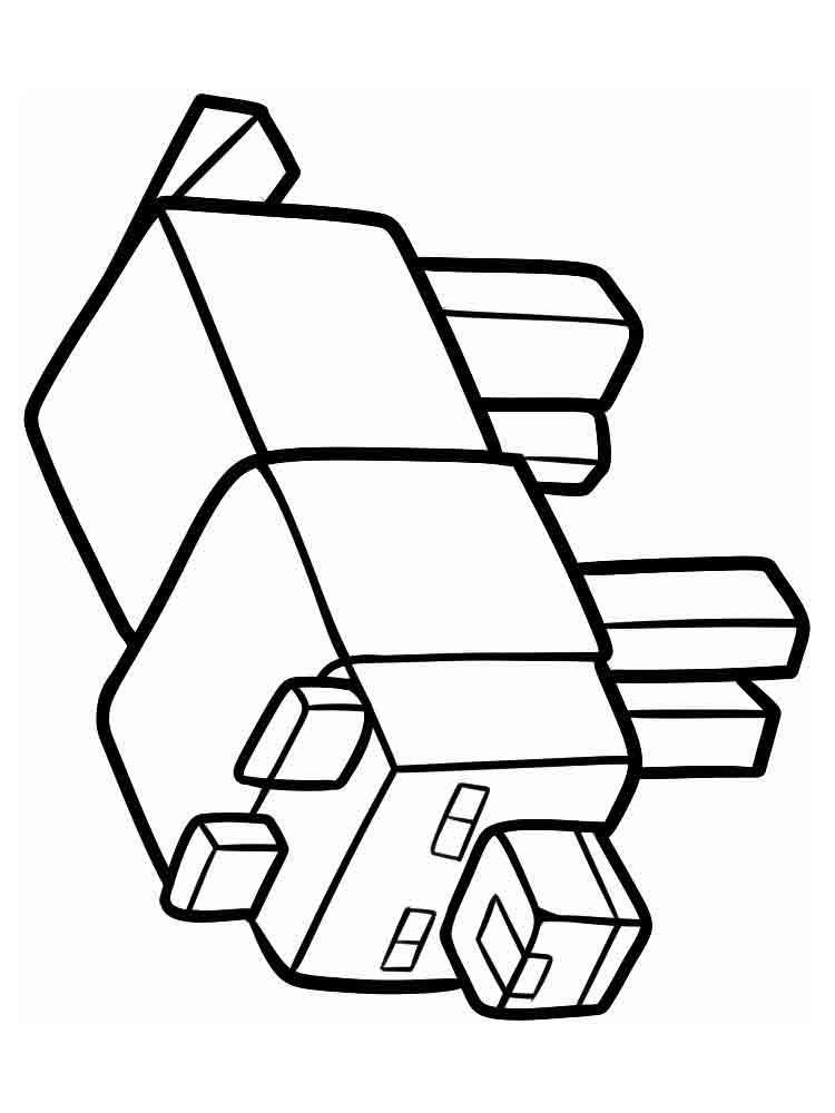 Майнкрафт медведь Раскрашивать раскраски для мальчиков