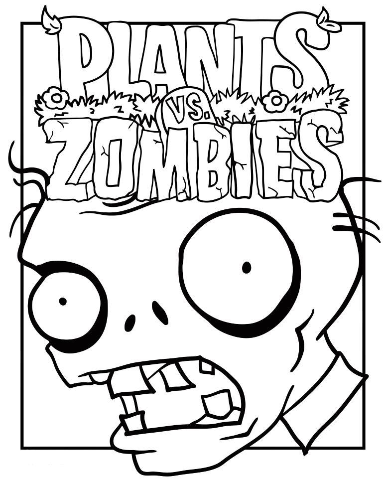 Растения против зомби Раскрашивать раскраски для мальчиков