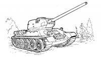 Танк т-34 ссср Раскрашивать раскраски для мальчиков