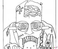Зомби голова Распечатать раскраски для мальчиков