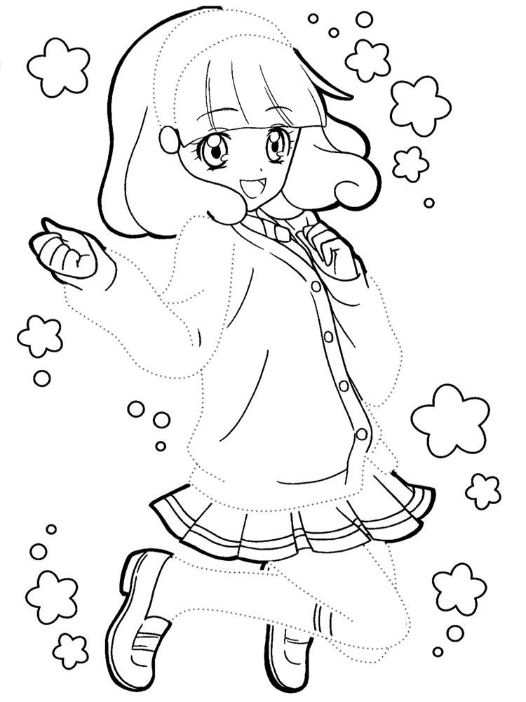 Аниме девочка в платье аниме девочка платье раскраски ...
