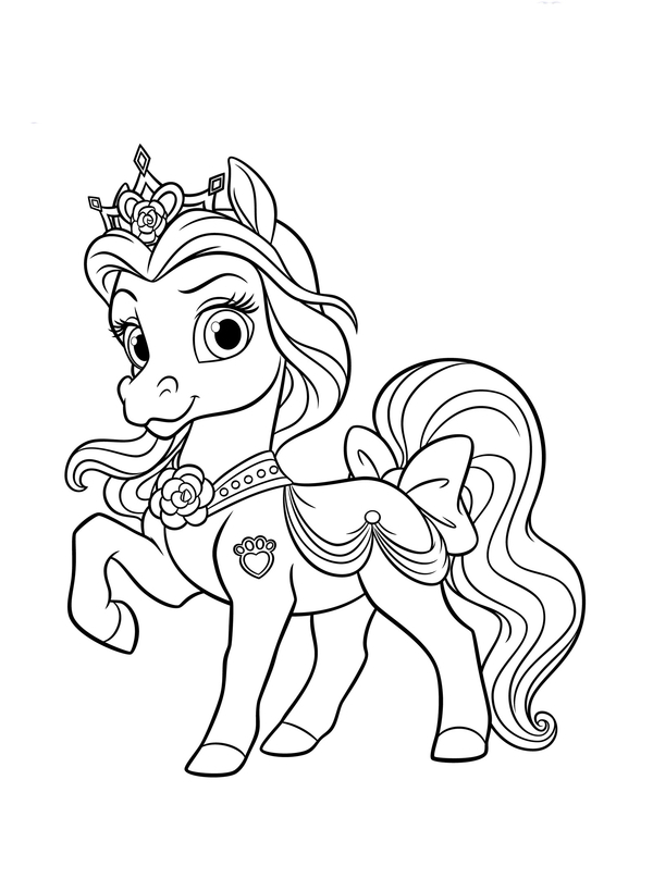 Маленькая пони пони лошадка красивая раскраски Раскраски ...
