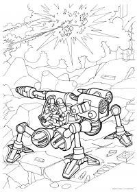 Пушки будущего Раскрашивать раскраски для мальчиков