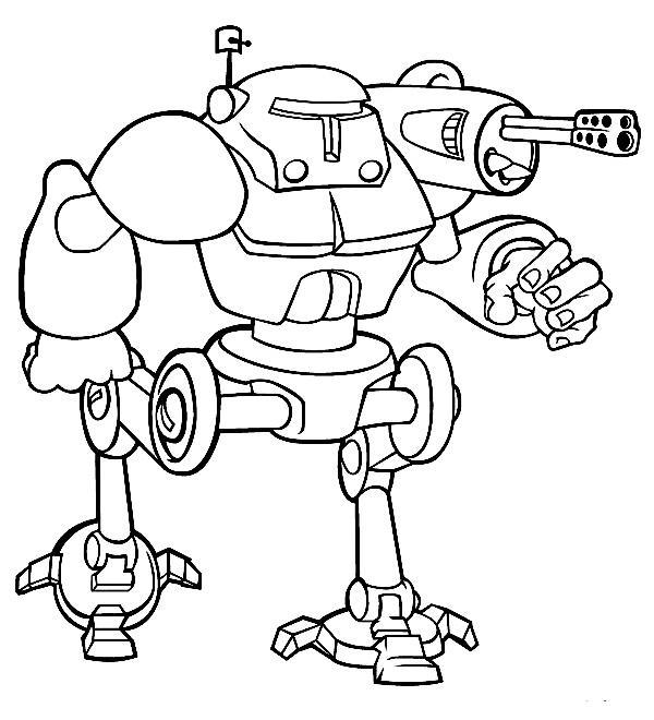 Робот с пушкой Раскрашивать раскраски для мальчиков