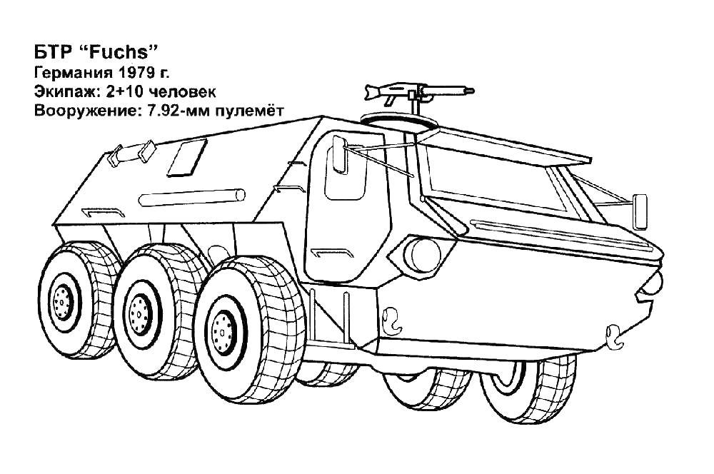 Военная техника Раскраски для мальчиков