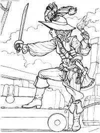 Пушка и пират Раскрашивать раскраски для мальчиков