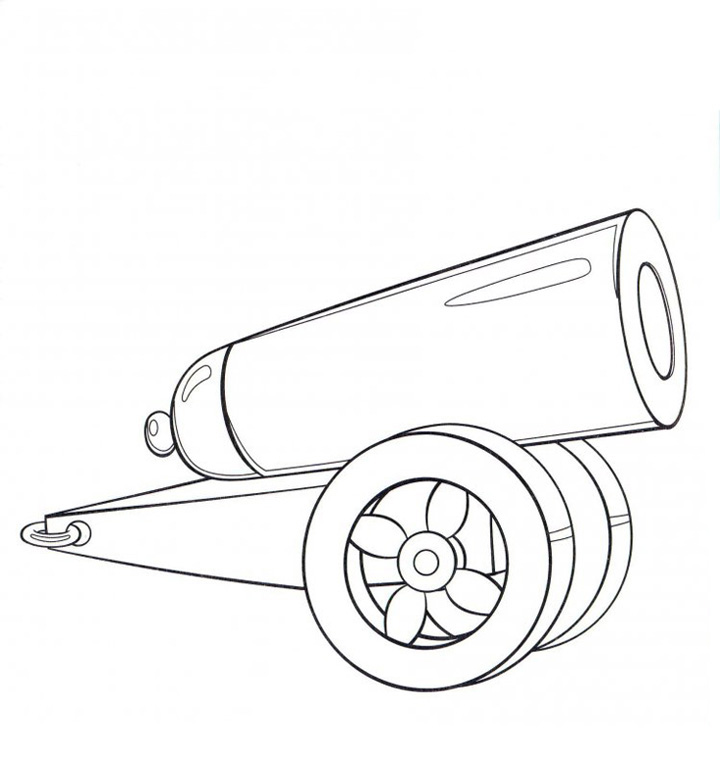 Маленькая пушка Раскраски для мальчиков