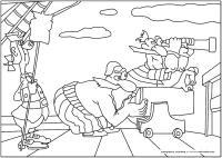 Пираты целятся из пушки Раскрашивать раскраски для мальчиков