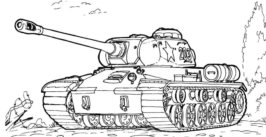 Российский танк в лесу танк т-90 лес Скачать раскраски для ...