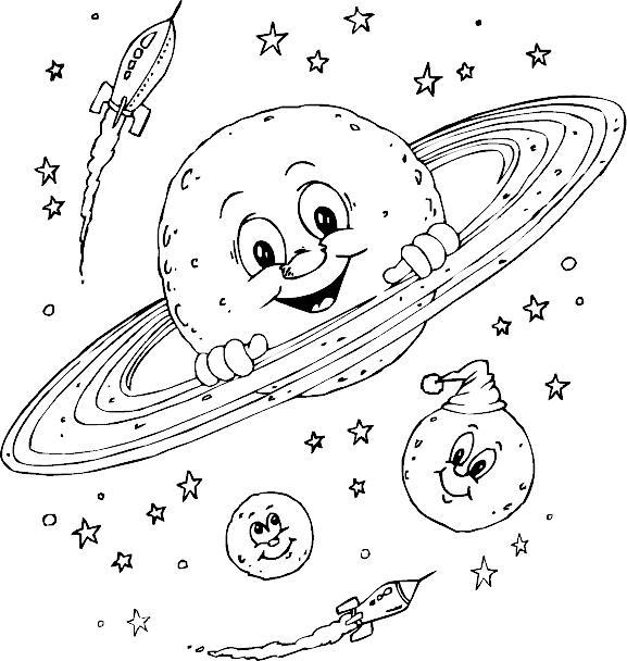 Добрые планеты Распечатать раскраски для мальчиков