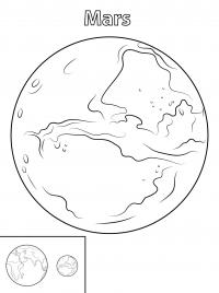 Планета марс Распечатать раскраски для мальчиков