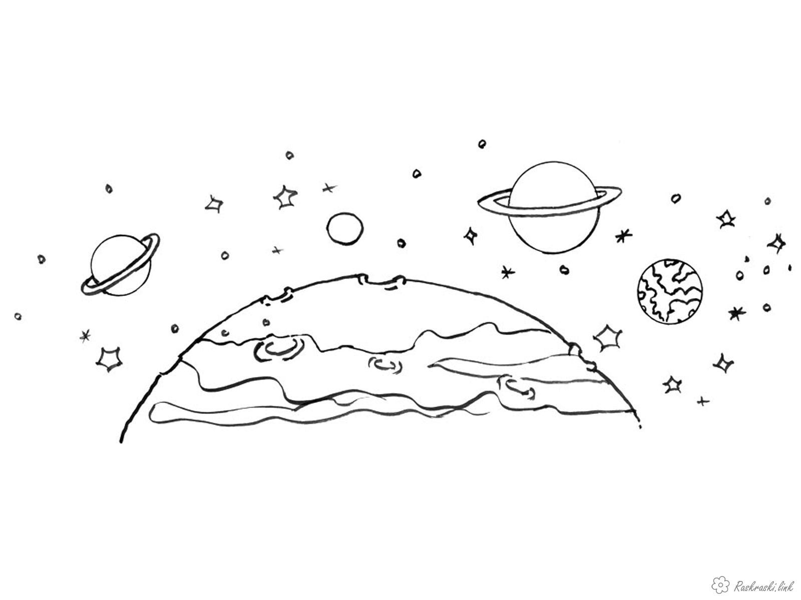 Планеты солнечной системы Распечатать раскраски для мальчиков
