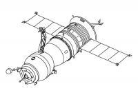 Спутник летает в космосе Раскрашивать раскраски для мальчиков