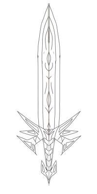 Красивый меч Раскрашивать раскраски для мальчиков