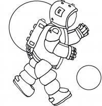 Космонавт в невесомости Раскрашивать раскраски для мальчиков