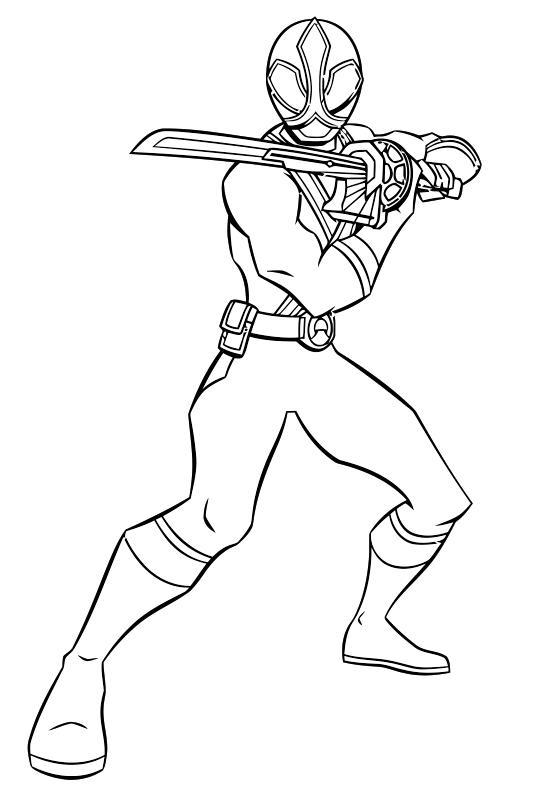 Рейнджер с мечом Раскраски для мальчиков