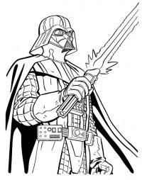 Дардвейдер с мечом Раскрашивать раскраски для мальчиков